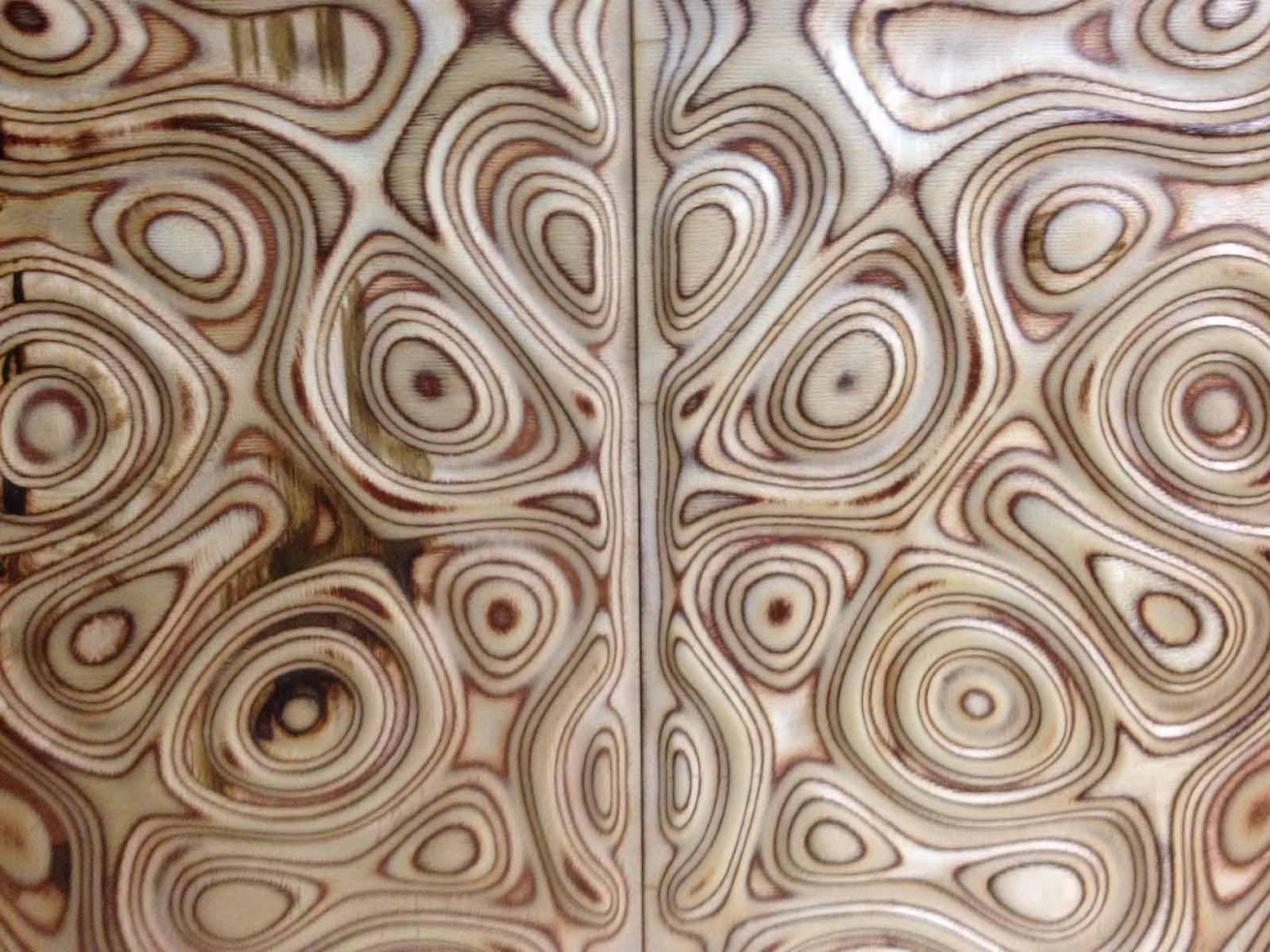 CNC Engraved Decorative PolyWood Panel