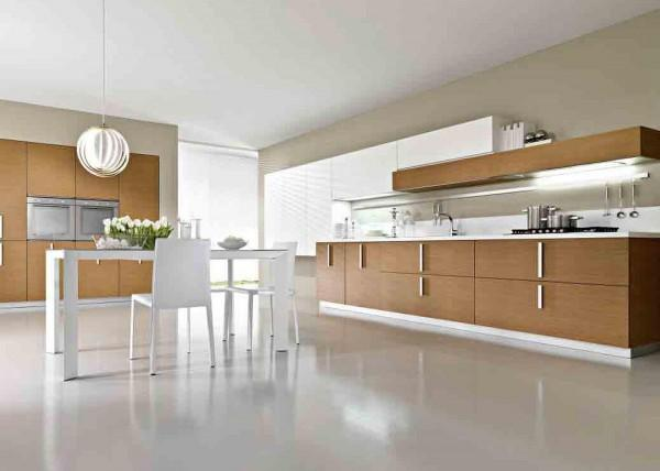 Matte Polywood Modern Kitchen Furniture with Acrylic Countertop